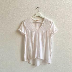 Maje V Neck Pleated Back T-Shirt